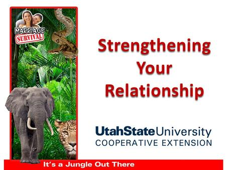 Strengthening Your Relationship. 1. Strengthen the friendship 2. Learn to handle conflict 3. Support each other's dreams and have a vision Building a.