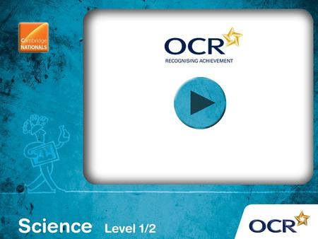 OCR Cambridge National in Science (Level 1 / 2) R071 How scientific ideas have an impact on our lives Module 1: Using Energy.