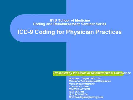 Medical Coding Chapter 3 Chapter 3 Icd 9 Cm Outpatient