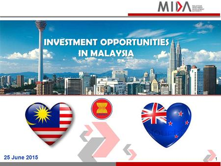 INVESTMENT OPPORTUNITIES IN MALAYSIA 25 June 2015 1.