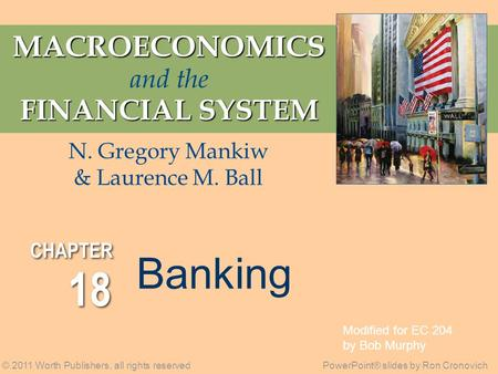 macroeconomics and the financial system by