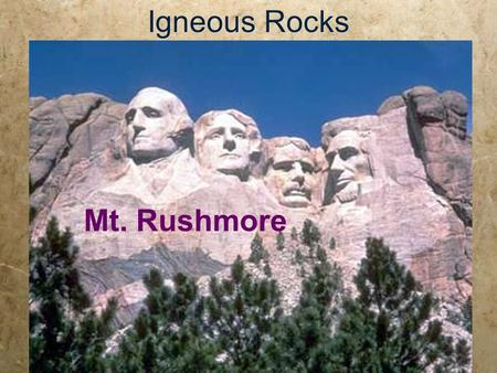 Igneous Rocks Mt. Rushmore. Half Dome, Yosemite, CA Ansel Adams.