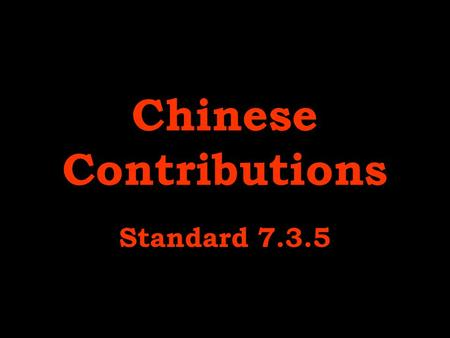 Chinese Contributions Standard 7.3.5. architecture.
