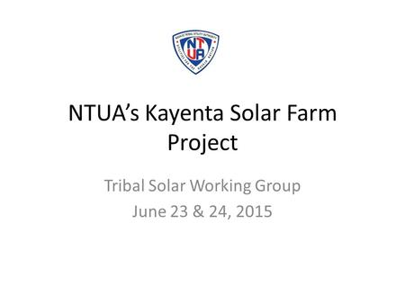 NTUA's Kayenta Solar Farm Project