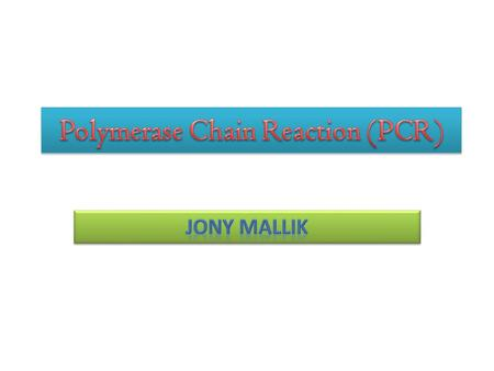 "PCR is stands for 'Polymerase Chain Reaction"". PCR is a very essential molecular biological, qualitative & quantitative analytical technique, that helps."