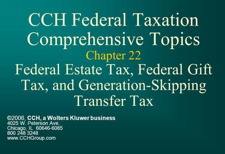 Chapter 19 cch federal taxation true false