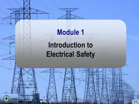 ©2008 1-1 Introduction to Electrical Safety Module 1.