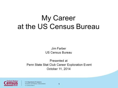 My Career at the US Census Bureau