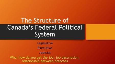 legislative and executive relationship