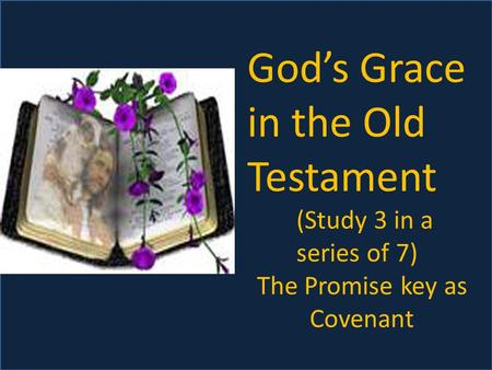 God's Grace in the Old Testament (Study 3 in a series of 7) The Promise key as Covenant.