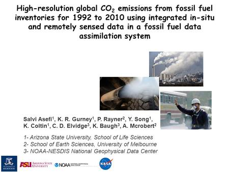 High-resolution global CO 2 emissions from fossil fuel inventories for 1992 to 2010 using integrated in-situ and remotely sensed data in a fossil fuel.