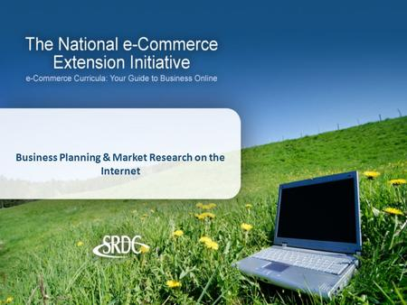 Business Planning & Market Research on the Internet.