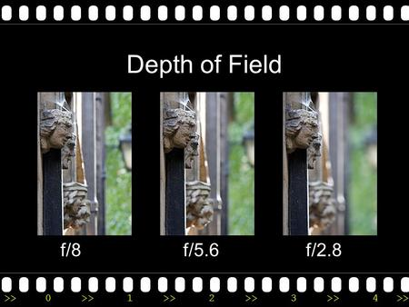 >>0 >>1 >> 2 >> 3 >> 4 >> Depth of Field f/8f/5.6f/2.8.