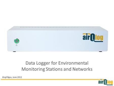 Data Logger for Environmental Monitoring Stations and Networks