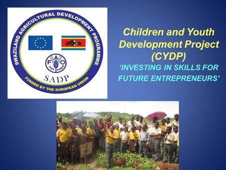 Children and Youth Development Project (CYDP) 'INVESTING IN SKILLS FOR FUTURE ENTREPRENEURS'