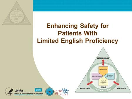 Enhancing Safety for Patients With Limited English Proficiency.