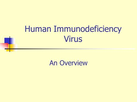 an overview of hiv or human immunodeficiency virus Human immunodeficiency virus (hiv): overview and risk factors worldwide, more than 40 million people are infected with human immunodeficiency virus (hiv.