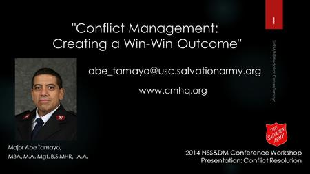 Conflict Management: Creating a Win-Win Outcome