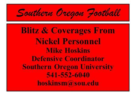 Southern Oregon Football