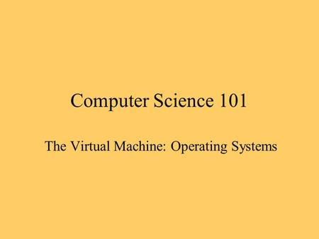 An introduction to the virtual reality in computer science