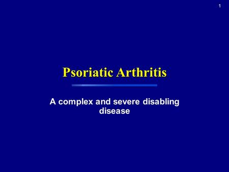 A complex and severe disabling disease