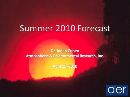 Summer 2010 Forecast. Outline Review seasonal predictors Focus on two predictors: ENSO Soil moisture Summer forecast Look back at winter forecast Questions.