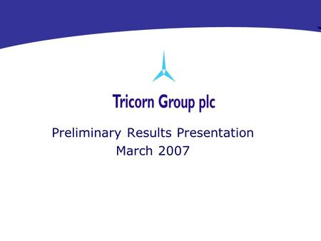 RMDG Aerospace Preliminary Results Presentation March 2007.