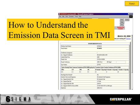 Next How to Understand the Emission Data Screen in TMI.