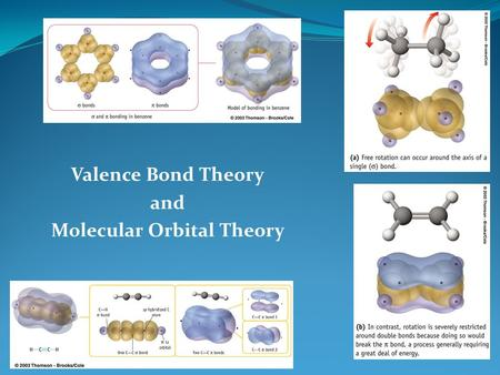 Valence Bond Theory and Molecular Orbital Theory