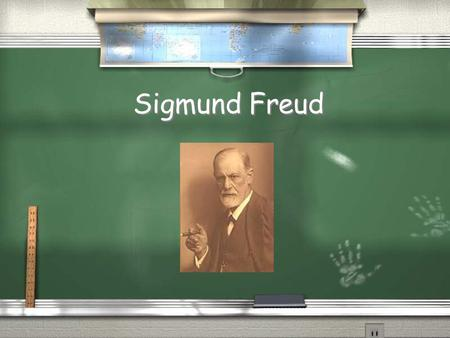 Sigmund Freud. / Sigmund Freud was a Jewish Austrian neurologist who founded the psychoanalytic school of psychiatry. / Freud is best known for his theories.
