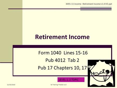 Retirement Income Form 1040 Lines Pub 4012 Tab 2