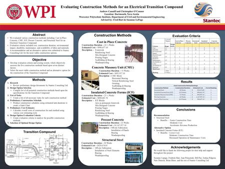 Abstract We evaluated various construction methods including: Cast in Place Concrete, CMU, ICF, Precast Concrete, and Structural Steel for an Electrical.