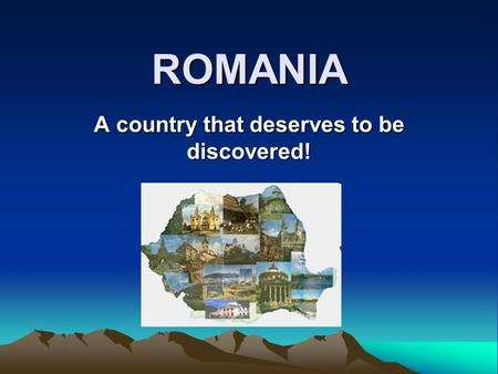 A country that deserves to be discovered!