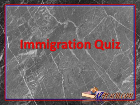 Immigration Quiz. 1. Less than 1 percent of the world's immigrants come to the United States. True: Of the 175 million migrants in the world, the U.S.
