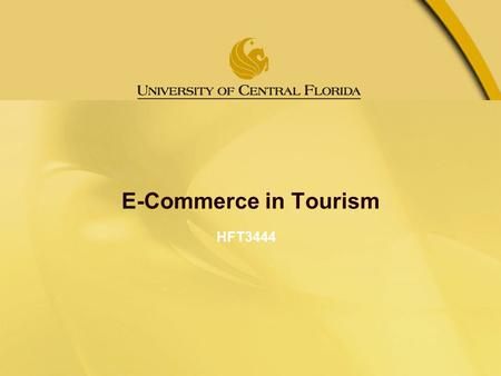 e-Commerce in Hospitality and Tourism
