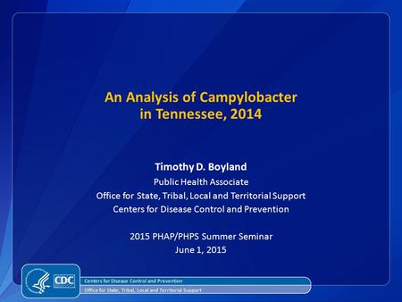 An Analysis of Campylobacter in Tennessee, 2014