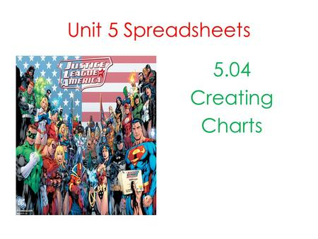 Unit 5 Spreadsheets 5.04 Creating Charts.