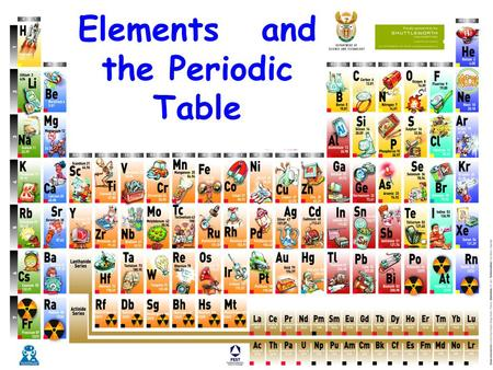 Elements and the Periodic Table 1.1 Metallic Elements LO:I understand what holds the atoms together in a metallic lattice. The Metallic Lattice.