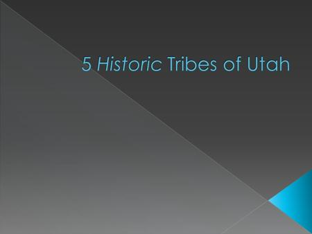 " Location: Central-eastern Utah  ""Ute"" means ""land of the sun""  Largest Utah tribe  Wore animal skins, wove grasses & bark  Lived in tepees."
