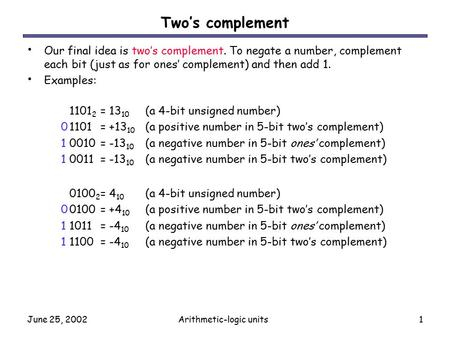 Arithmetic-logic units