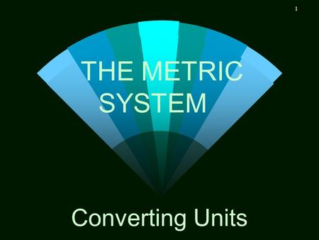 THE METRIC SYSTEM Converting Units.