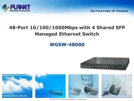 48-Port 10/100/1000Mbps with 4 Shared SFP Managed Ethernet Switch