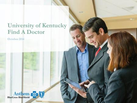 October 2014 University of Kentucky Find A Doctor.