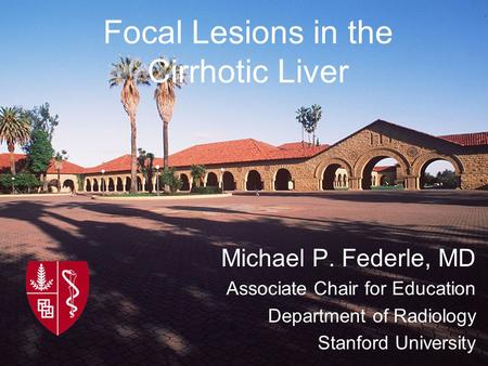 Focal Lesions in the Cirrhotic Liver