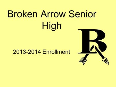 Broken Arrow Senior High 2013-2014 Enrollment. Graduation Requirements BA Diploma: 48 Credits English – 4 Years (8 Credits) Math – 3 Years during 9-12.