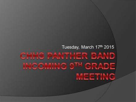 Tuesday, March 17 th 2015. Incredible Opportunities  Largest co-ed organization at CHHS Over 200 students Highest GPA average on campus  Leadership.