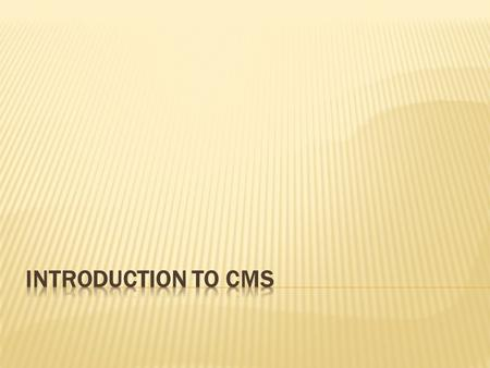 A content management system (CMS) is a computer program that allows publishing, editing and modifying content on a web site as well as maintenance from.