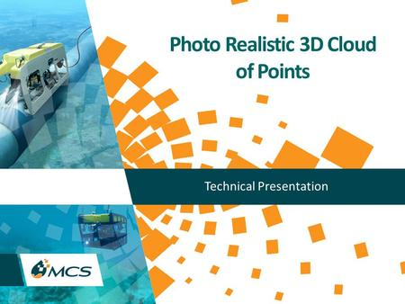 Photo Realistic 3D Cloud of Points Technical Presentation.