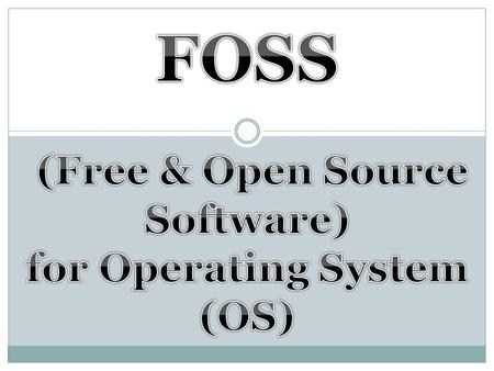 Free and open-source software (also known simply as Free software or Open source software) is software created by loose networks of people (both companies.