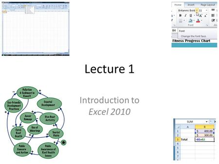 Lecture 1 Introduction to Excel 2010. OVERVIEW Introduction Basics of Cells Modifying Columns and Rows Formatting Cells Saving Working with Formulas Basics.